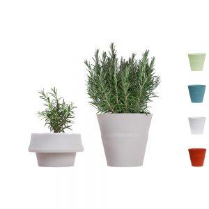 De fold is een siliconen plantenpot die meegroeit met je plant
