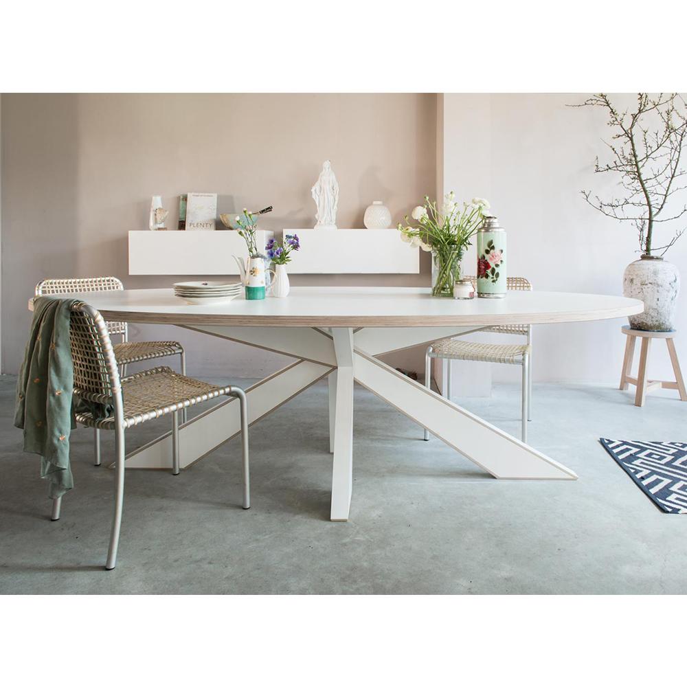 Design Witte Eettafel.Tafel Longlegs Cc Met 40 Mm Blad