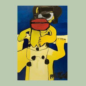 Outsider art kunstenaar Paulus de Groot werkt veel met kleur en vormen. Hij is een outsider (art brut) kunstenaar die schildert vanuit hart en geest.