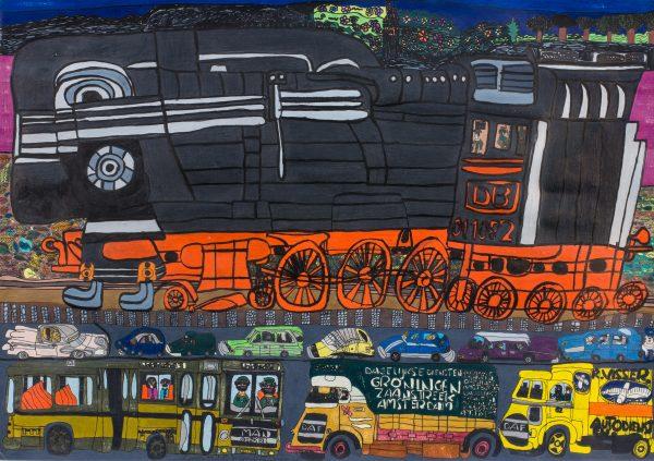 schilderij van Cengiz Imandi bij Chez Freddy art & design gallerie