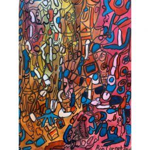 Ron Cornet is een outsider art kunstenaar Chez Freddy art & design in Haarlem galerie gallery