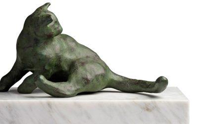 De bronzen beelden van Joris Verdonkschot bij Chez Freddy art & design