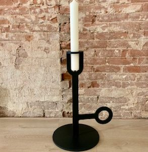Carry on Big black high high candlestick large Chez Freddy art & Design in Haarlem