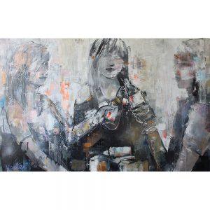 werk van kunstenares Karlien Kuperus bij Chez Freddy in Haarlem