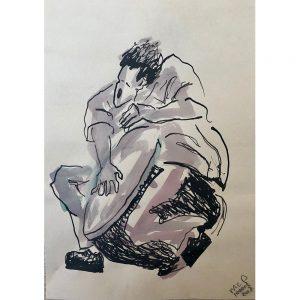 Mies van der Perk outsider art art brut Chez Freddy tekening art &