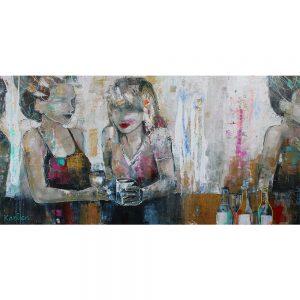 Reunite van Karlien Kuperus 100 x 200 cm bij Chez Freddy art in Haarlem