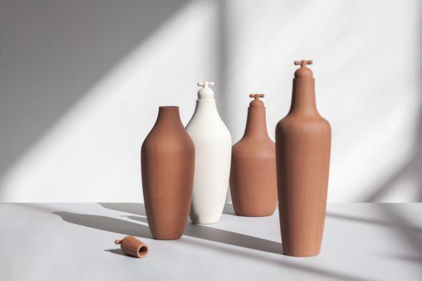 p Water Carafe - water karaf- - pure stoneware _Chez Freddy_Haarlem