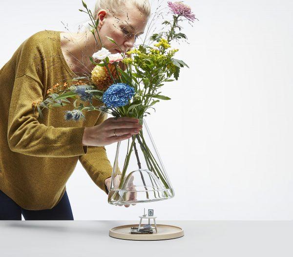 design vaas met display Chez Freddy art & design Haarlem