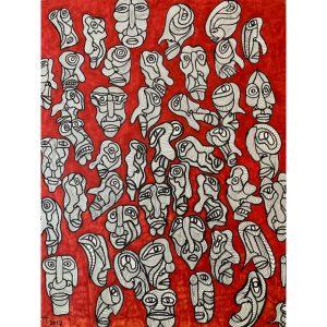 Outsider art brut Edward Teeuw Chez Freddy Haarlem art & design gallery galerij kunst